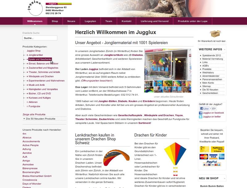 webseite 2009 - 2015