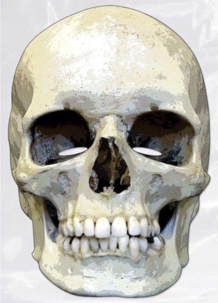 Totenkopf Foto-Karton Maske