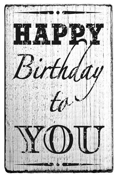 Stempel im Vintage Look - Happy Birthday to You