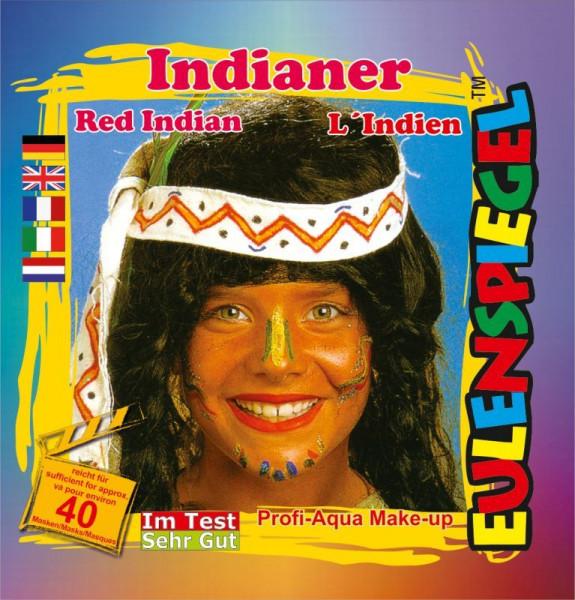 Eulenspiegel Profi-Schminkfarben - Sujet Indianer