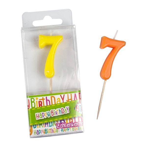 Zahlen-Kerze Ziffer 7