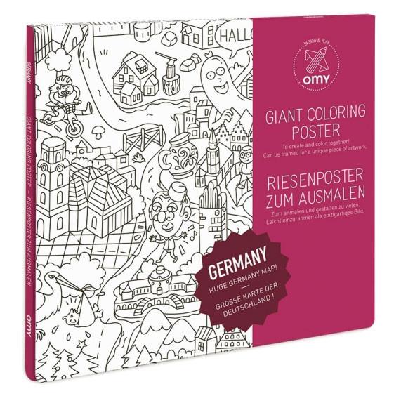 Poster zm Ausmalen - Deutschland - 70x100cm