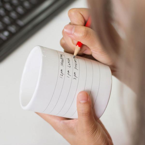 Geschenk Tasse - Notepad