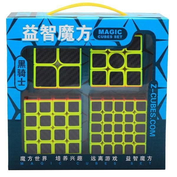 Fundgrube - Speedcube Carbon Fiber Geschenk-Set 2x2 bis 5x5 (Schachtel defekt)