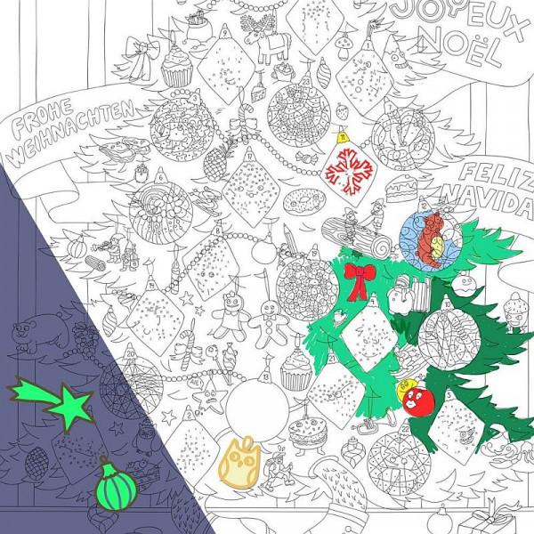 Poster zum Ausmalen - Christmas - 100x70cm