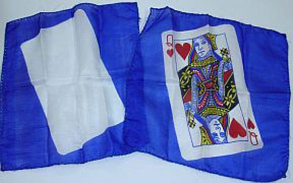 Zaubertuch - mit Spielkartenmotiv - Herz Dame