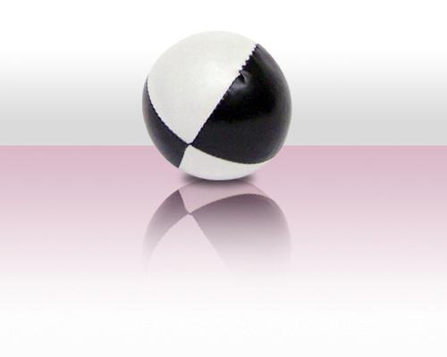 Jonglierball Beanbag 110g - weiss mit schwarz