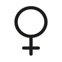 Ministempel Das Gender-Symbol - weiblich
