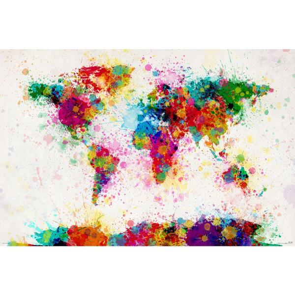 Weltkarten Poster - Michael Tompsett