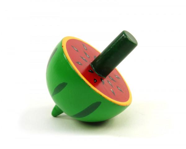 Holzkreisel Frucht - Melone