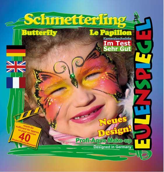 Eulenspiegel Profi-Schminkfarben - Sujet Schmetterling