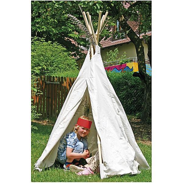Tipi Zelt klein - Indianerzelt für den Garten