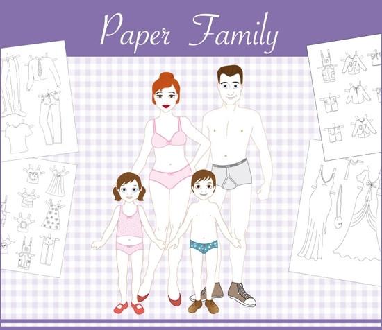 Paper-Family Ausschneideblock