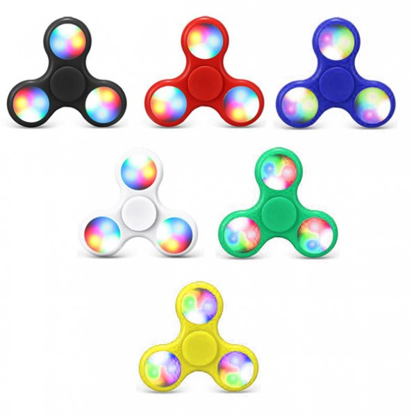 Leuchtender Finger Spinner mit LED Licht - zufällige Farbe