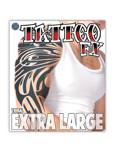 Tribal Klebe-Tattoo extragross