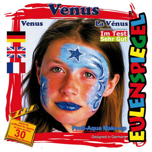Eulenspiegel Profi-Schminkfarben - Sujet Venus