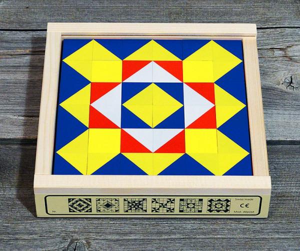 Zauberkästli Würfel Mosaik - Buche - 36-teilig