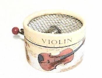 Papierdosen für Musikdosen - Sujet: Musikinstrumente
