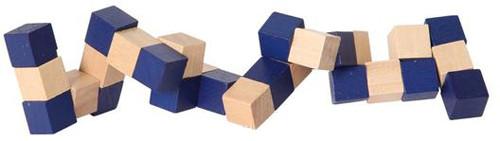 Würfelschlange 3cm - Holzwürfel Knobelspiel