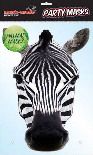 Zebra Karton Maske