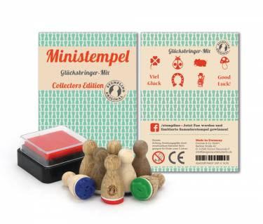 Ministempel Glücksbringer Mix - Set mit 8 Stück