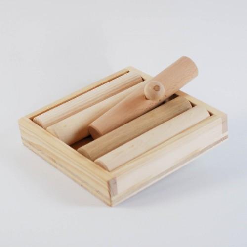 Hundespiel aus Holz - Zaunpfahl-Spiel