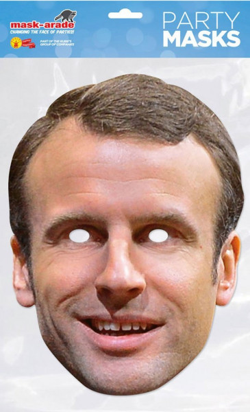 Emmanuel Macron - Maske