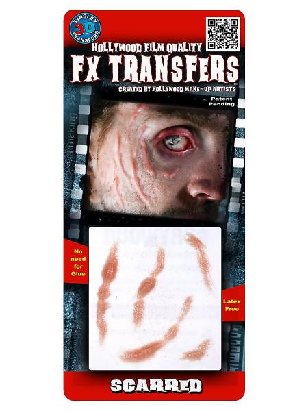 Narbengesicht 3D FX Transfers - Spezialeffekt-Wunden