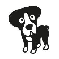 Ministempel Hund Boxer