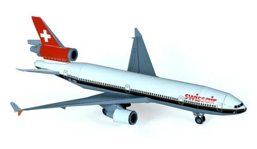 Modellbogen - MD 11 Swissair