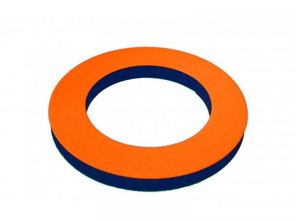 Neo Wurf Ringe 20mm Neon Gelb / Orange