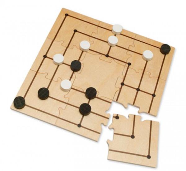 Pocketgame Mühle - 9 Teile