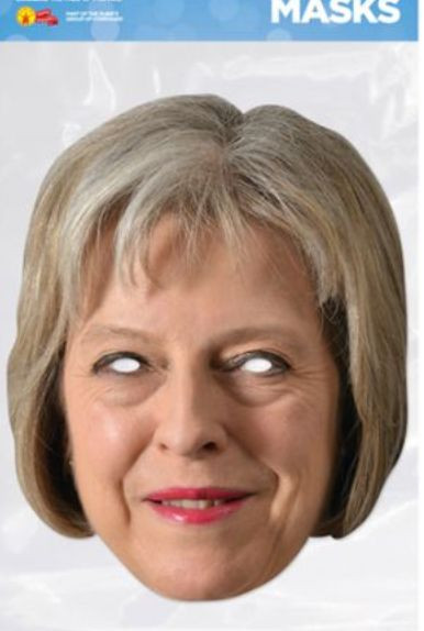 Theresa May Foto-Karton Maske
