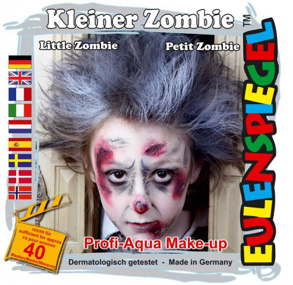 Eulenspiegel Profi-Schminkfarben - Sujet Kleiner Zombie