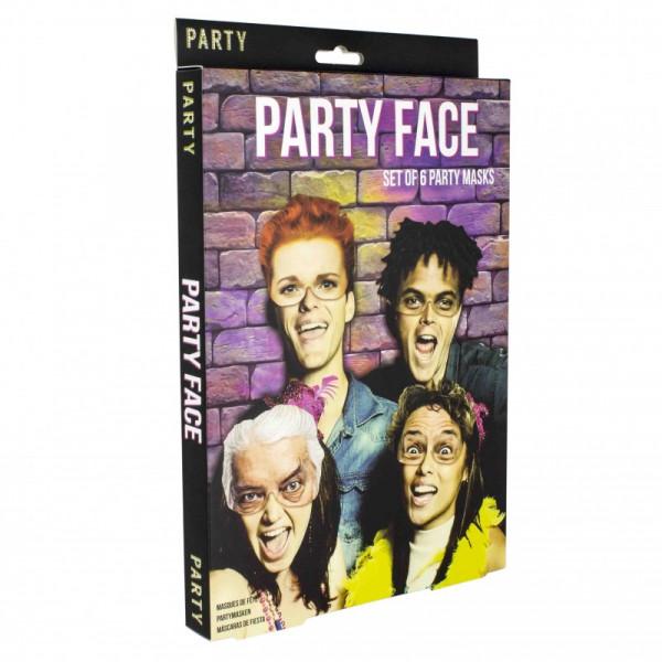 Party Face - Die Party-Masken - Set mit 6 Stück