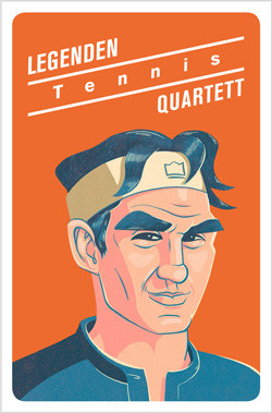 Legenden Quartett - Tennis - die perfekte Geschenkidee für Tennisfans!