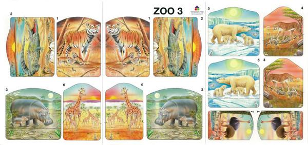 Modellbogen - Zoo 3