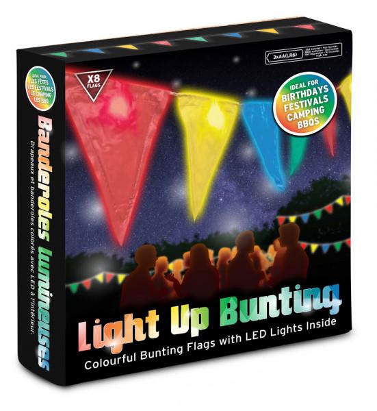 Wimpel Girlande mit LED