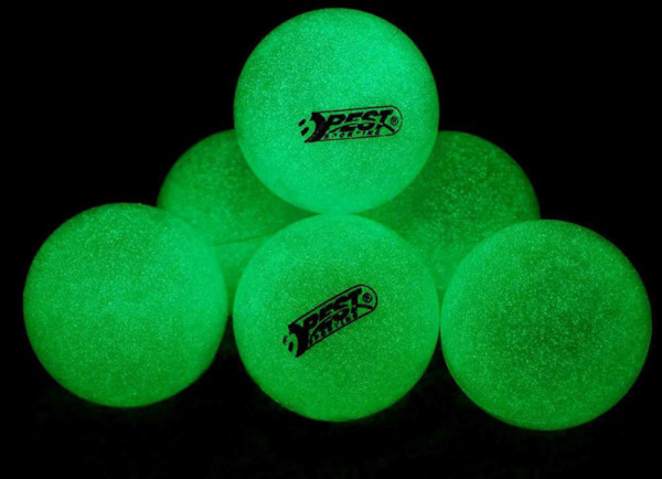 Tischtennis Bälle Set mit 6 Stk - Glow in the dark