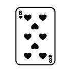 Ministempel Spielkarte