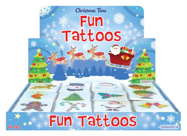 Mini Tattoo, Weihnachten - für in den Adventskalender