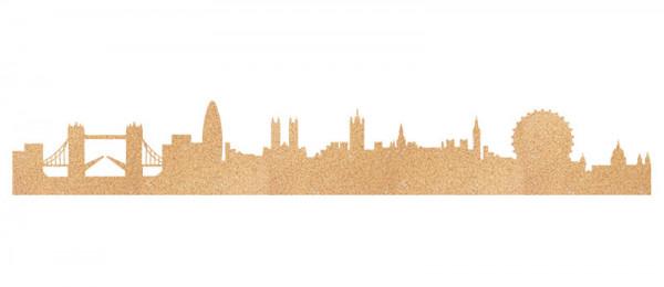 London Skyline Kork Pinwand