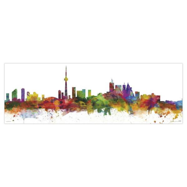 Toronto Skyline Poster - Michael Tompsett