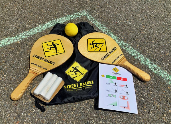 Street Racket Set - natur