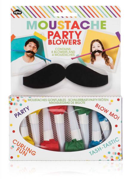 Moustache party blowers