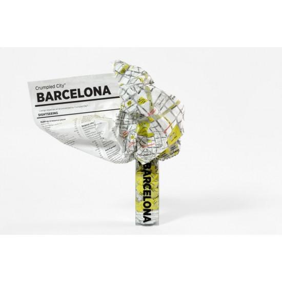 Crumpled City Map - Barcelona