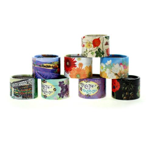 Papierdose für Musikdosen - Sujet Blumen