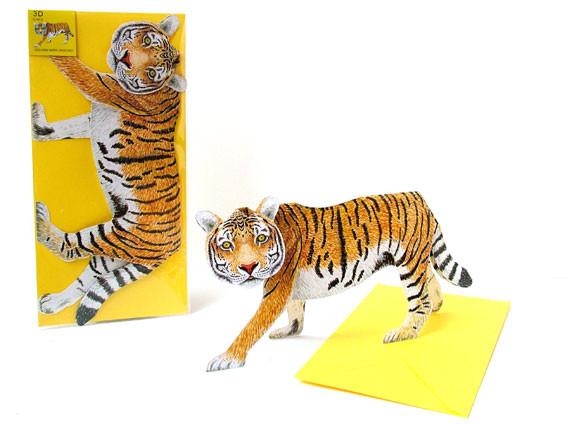 3D Faltkarte - Tiger