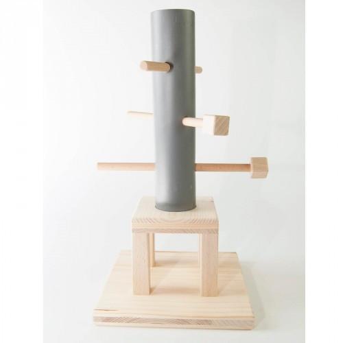 Hundespiel aus Holz - Röhren-Spiel