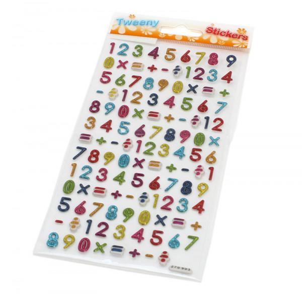 3D Stickers - Zahlen